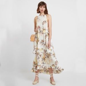 NWT Free People Anita Floral Tiered Maxi Dress
